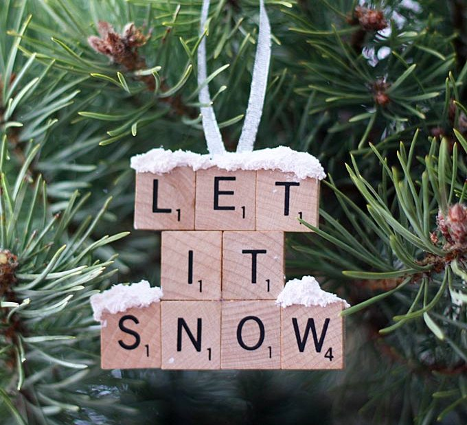 DIY Let it Snow Ornament