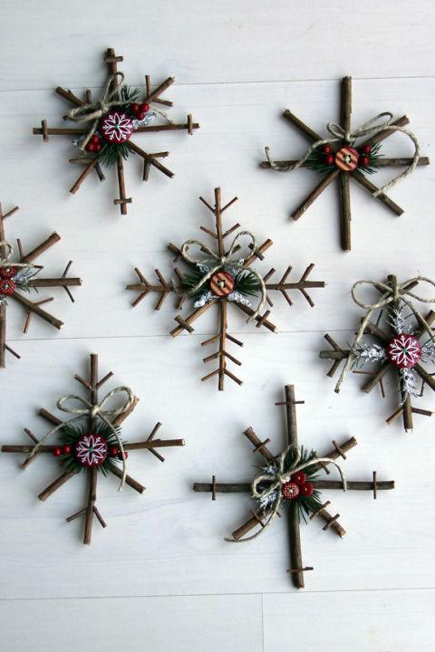 Homemade Christmas tree ornaments