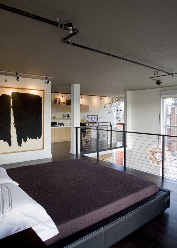 Industrial Loft-Style Bedroom