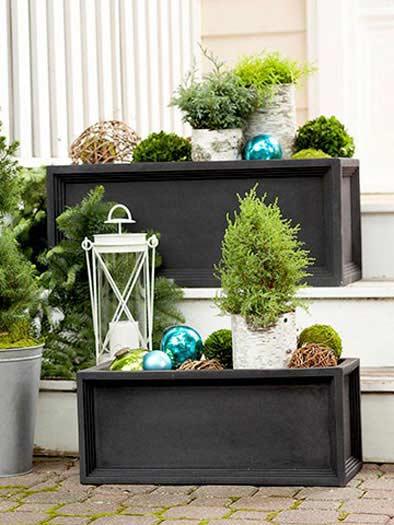 Outdoor Christmas Decorating Ideas Porches