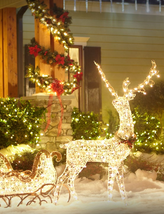 Outdoor Lighted Reindeer Christmas Decoration