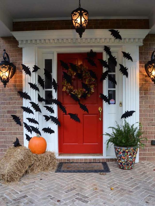 Bats Flying Across Door Decoration