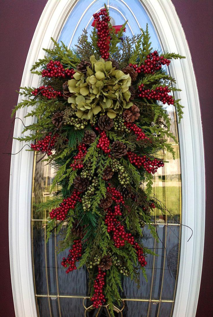 Christmas Wreath Door Swag