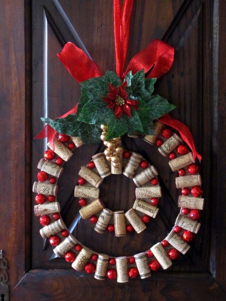 DIY Wine Cork Christmas Wreath