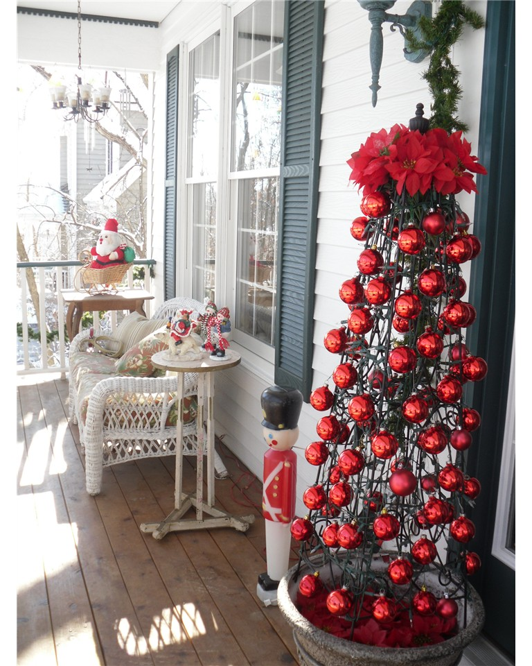Front Porch Christmas Decorating Ideas Design