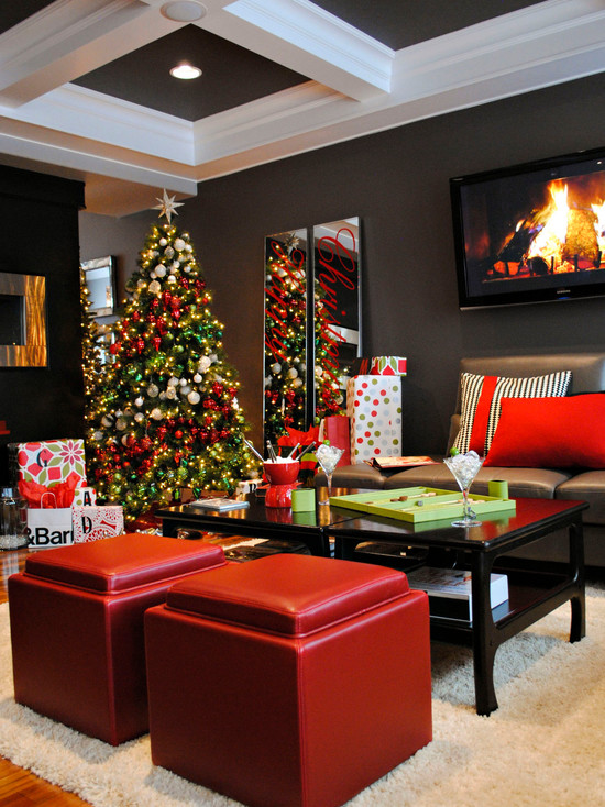 Modern Living Room Christmas Decorating Ideas