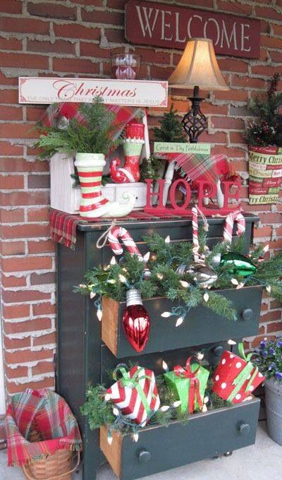Pinterest Christmas Porch Decorations