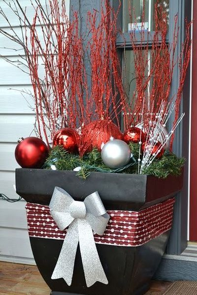 Pinterest Front Porch Christmas Decorations