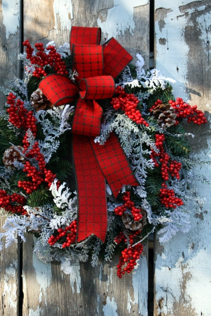 Red Christmas Ribbon Wreath