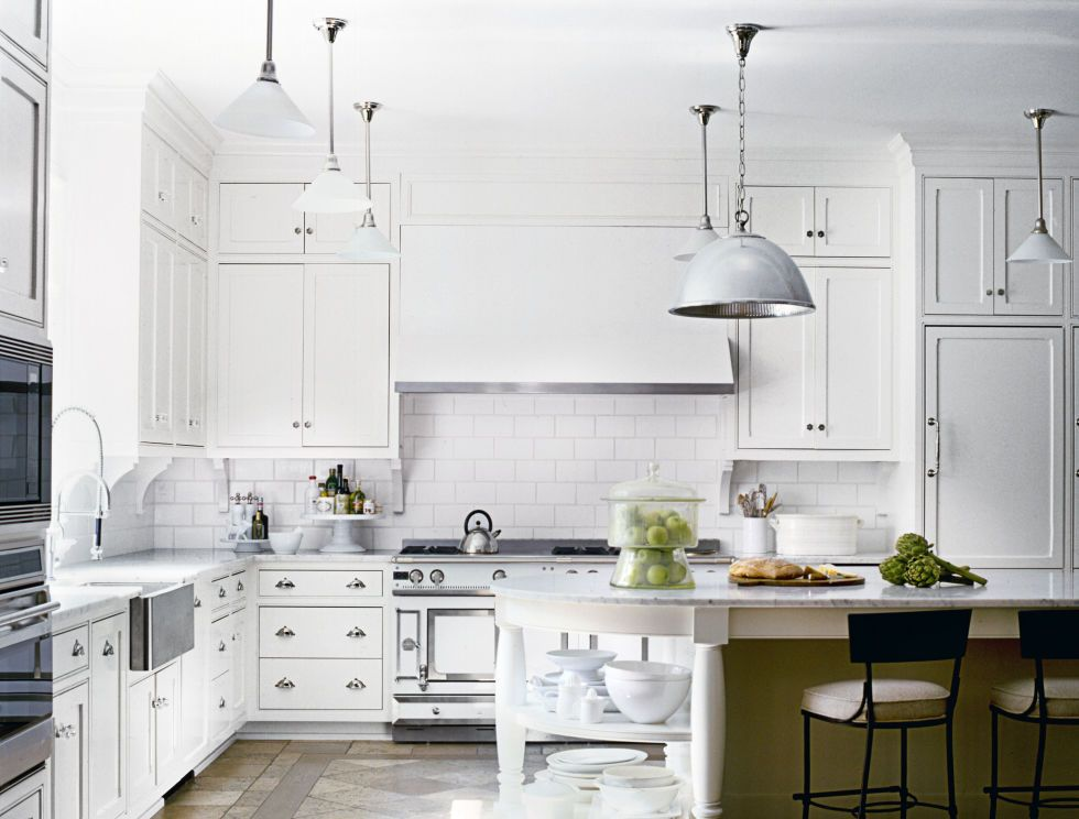All White Traditional Kitchen