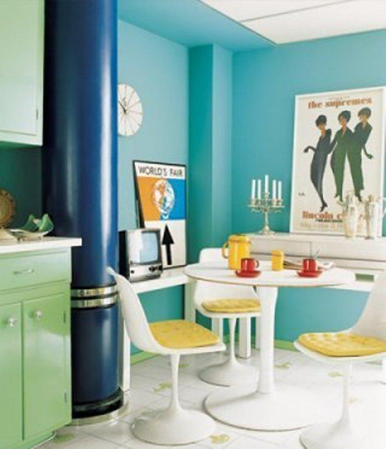Blue and Green Kitchen