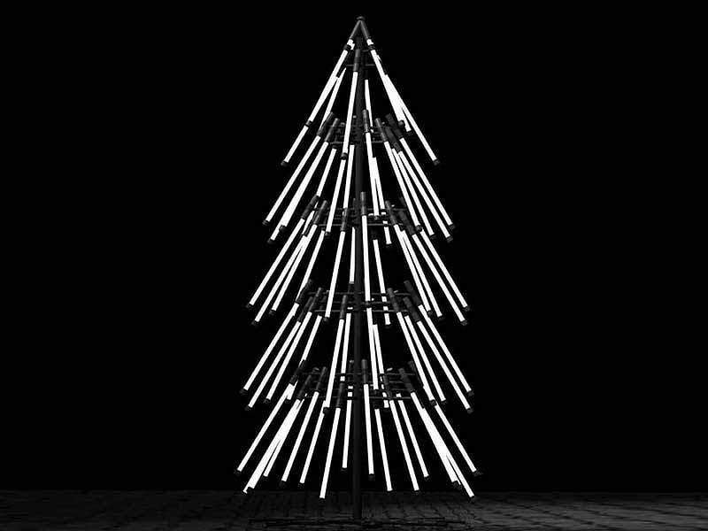 Christmas tree from light tubes Thewowdecor