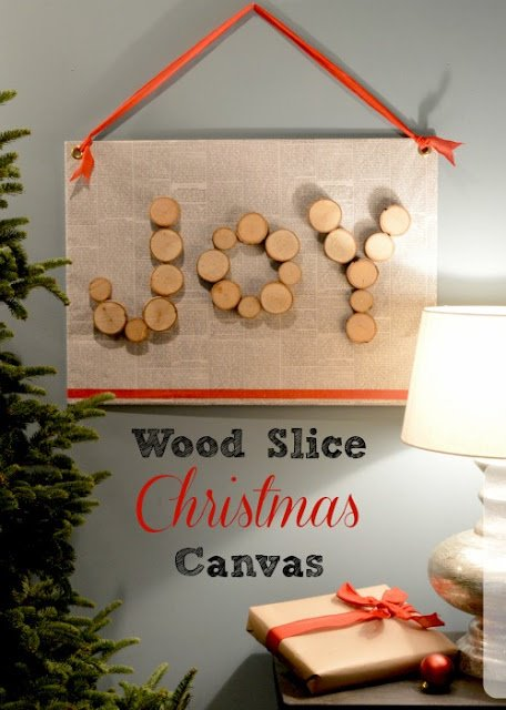 DIY Christmas Wall Art Ideas Thewowdecor (17)