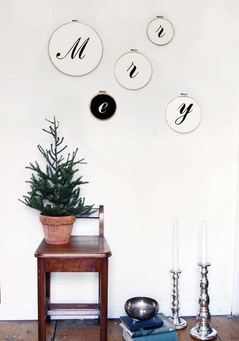 DIY Christmas Wall Art Ideas Thewowdecor (18)