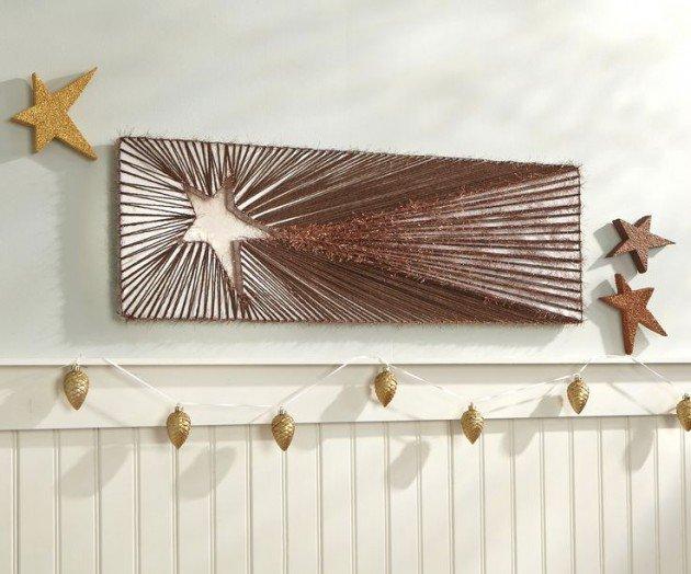 DIY Christmas Wall Art Ideas Thewowdecor (21)