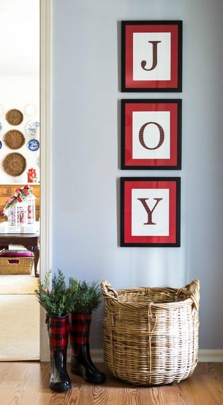 DIY Christmas Wall Art Ideas Thewowdecor (31)