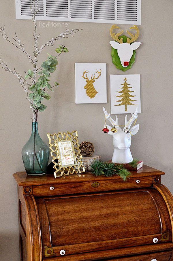 DIY Christmas Wall Art Ideas Thewowdecor (9)