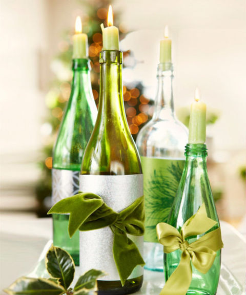 DIY Repurpose Wine Bottles Candles Thewowdecor