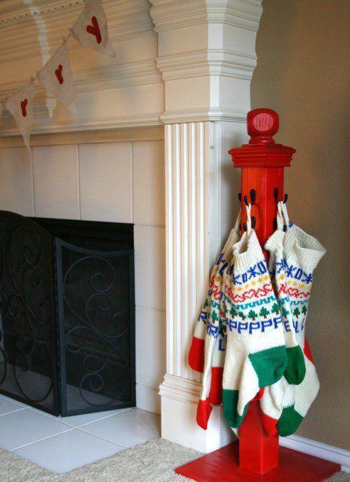 DIY Stocking Hanger Thewowdecor