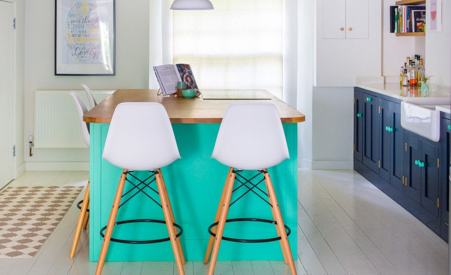 Eclectic Colourful Shaker Kitchen Design