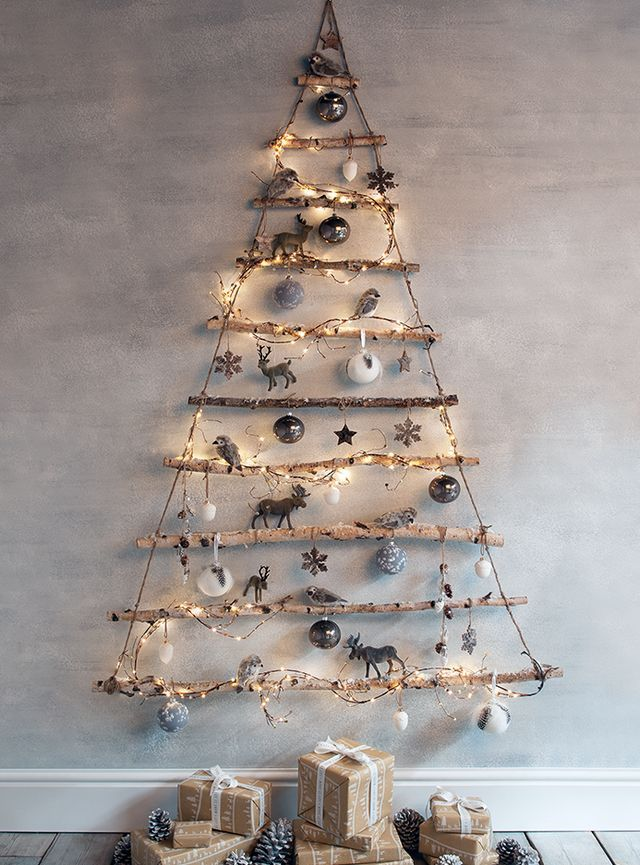 Frosted Branches Hanging Tree Thewowdecor