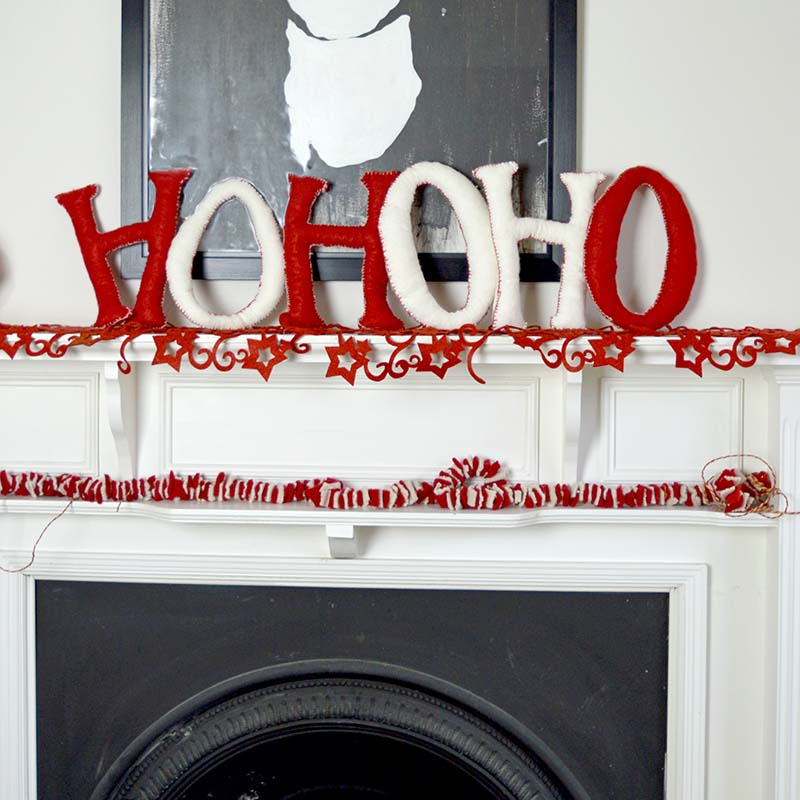 Giant Christmas Felt Letters Thewowdecor