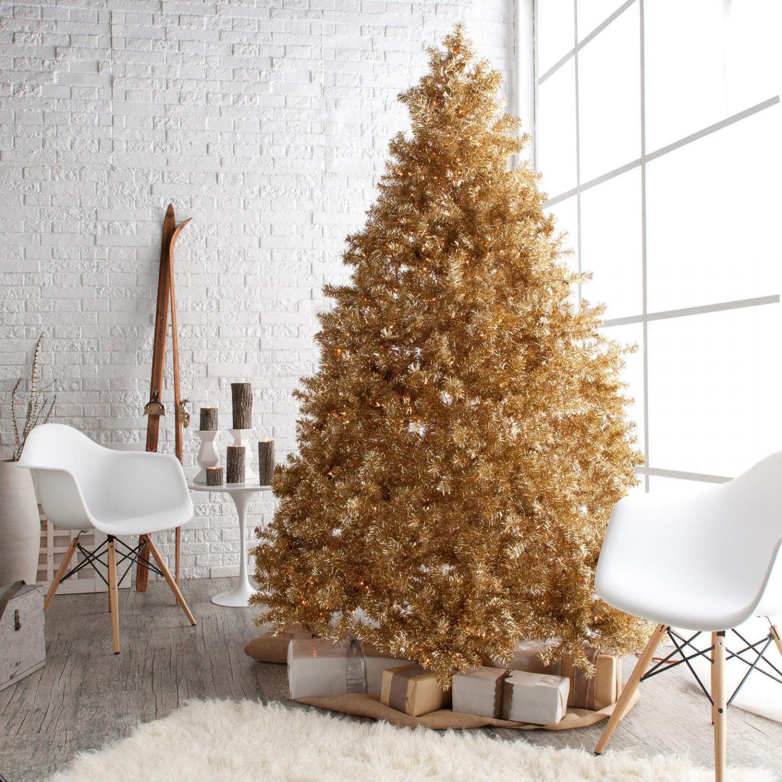 Golden Christmas Tree Decoration Thewowdecor