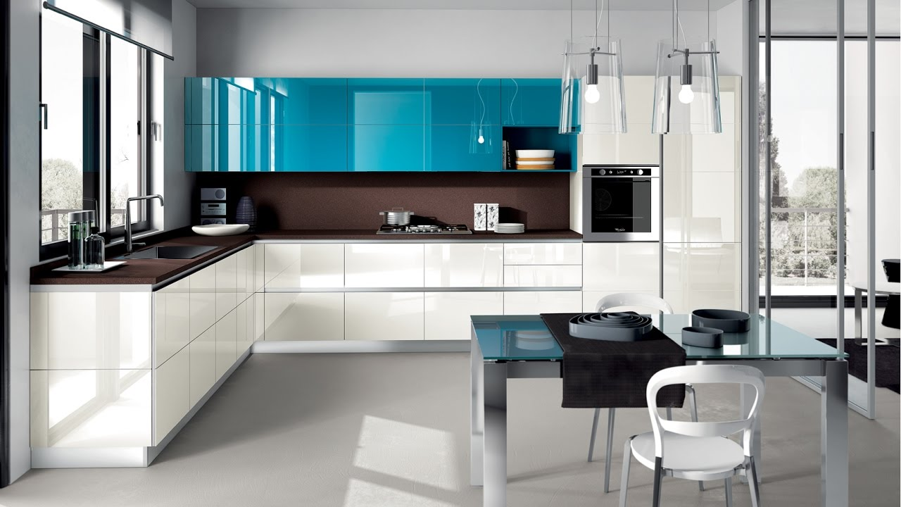 Large Open Concept Modern Kitchen