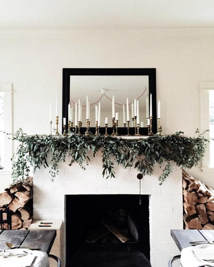 Mantel holiday decor Dwellingdecor