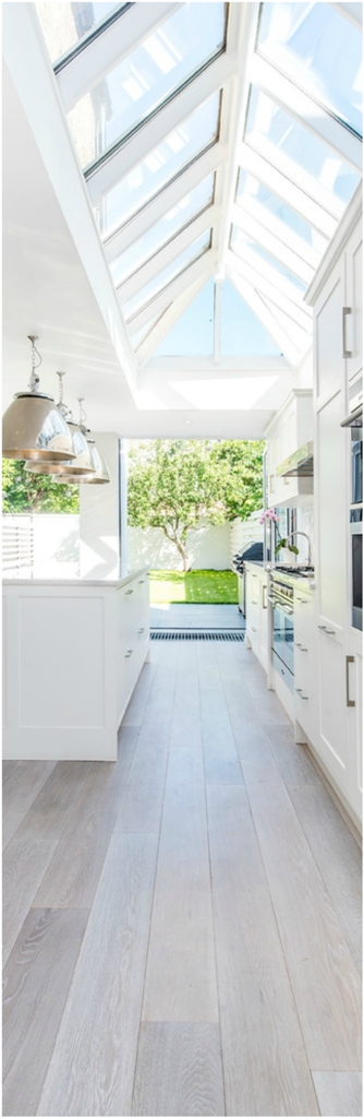 Transitional Galley Eat In Kitchen