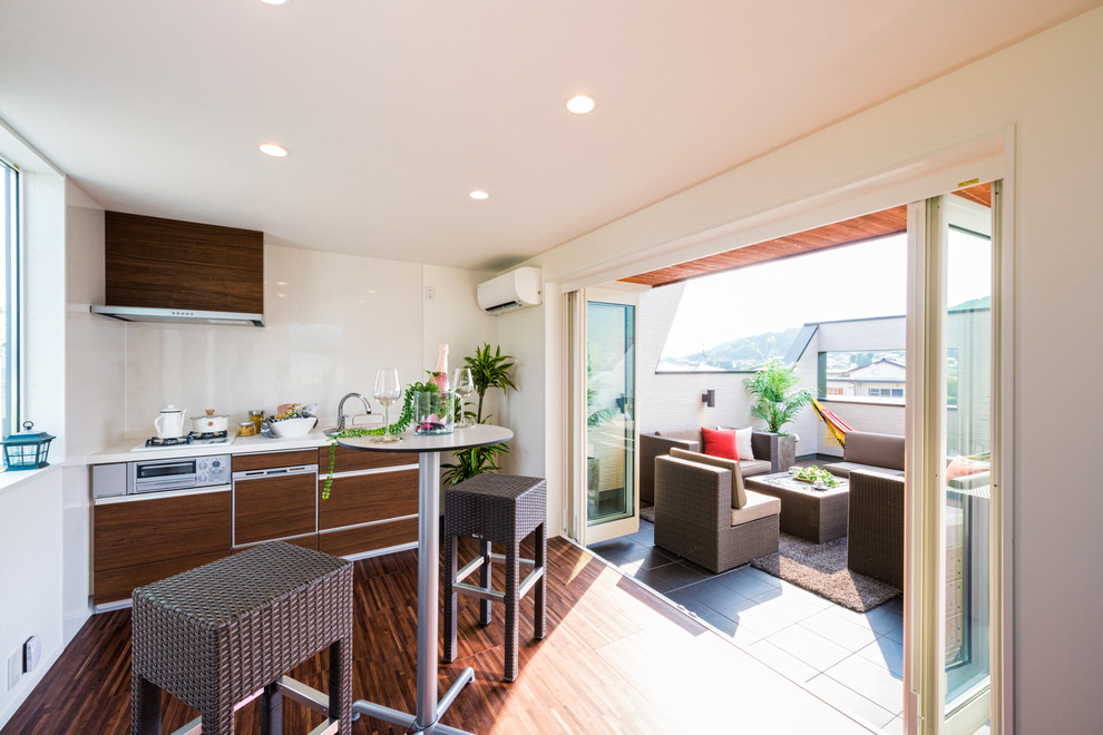 Zen Style Single Wall Kitchen