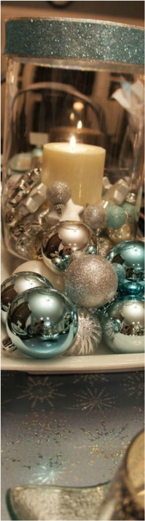 Blue and Silver Christmas Centerpieces Ideas