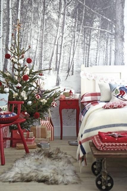 Christmas Bedroom Decor Ideas thewowdecor (11)