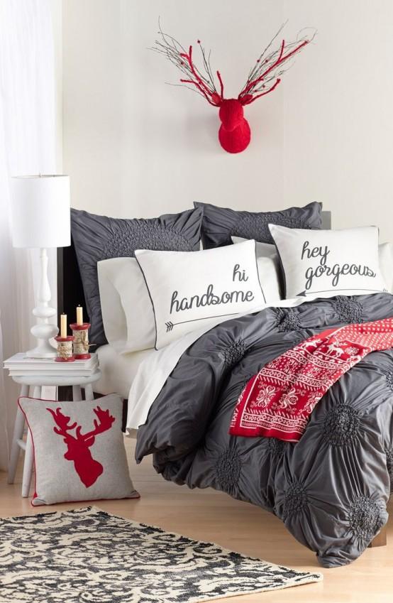 Christmas Bedroom Decor Ideas thewowdecor (2)