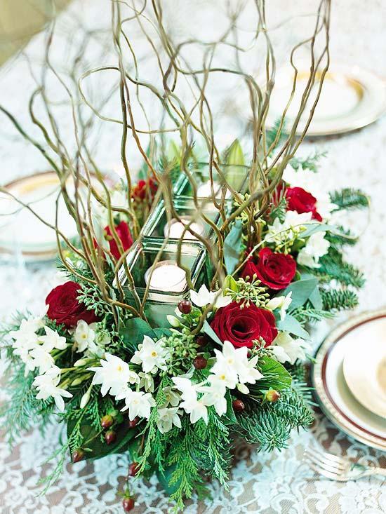 Christmas Flower Centerpiece Ideas