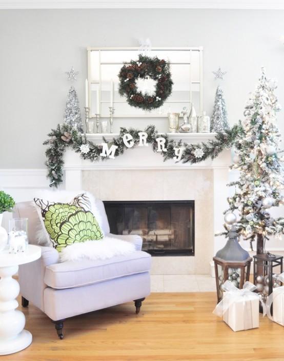 Christmas Living Room Decor Ideas thewowdecor (29)