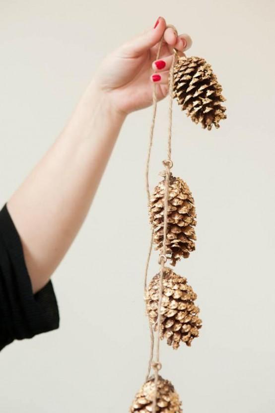 Gold Christmas Decoration Ideas (20)
