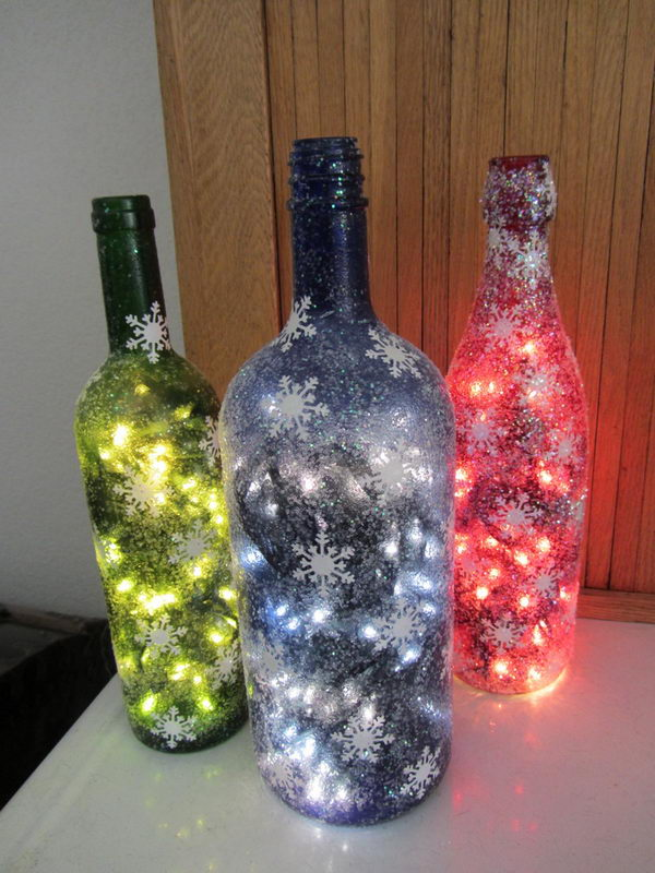 Wine Bottle Christmas Decorations