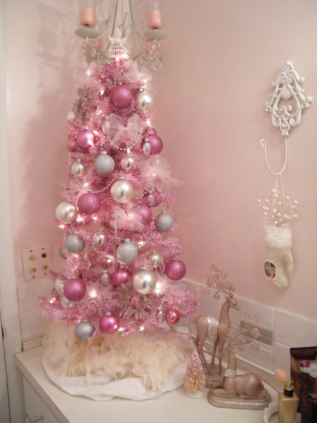 Small Pink and White Christmas Tree