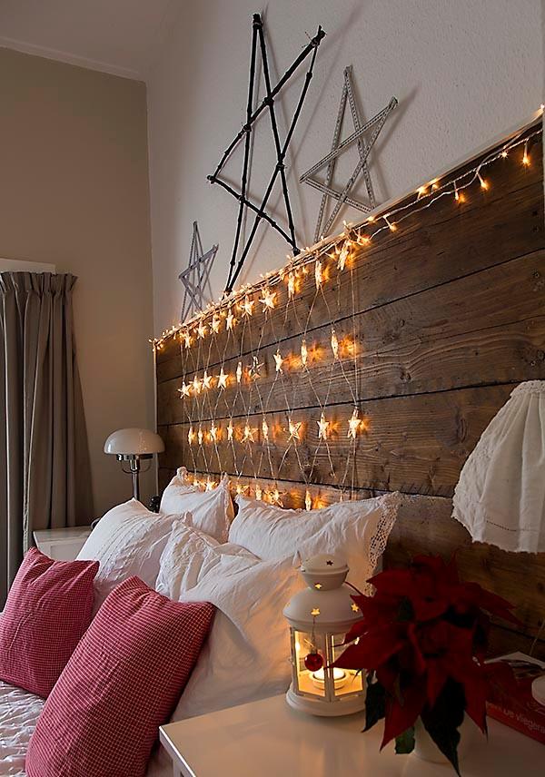 White Christmas Light Decoration Bedroom