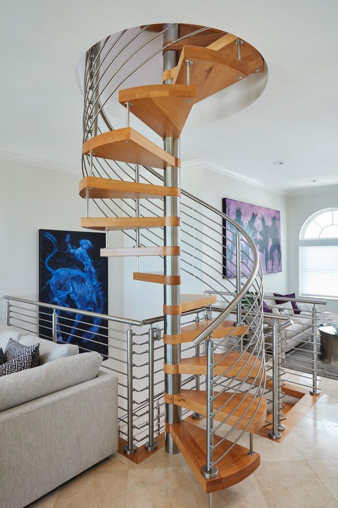 Wooden Spiral Staircase (10)