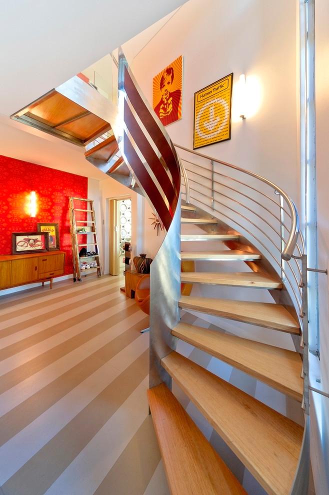 Wooden Spiral Staircase (12)