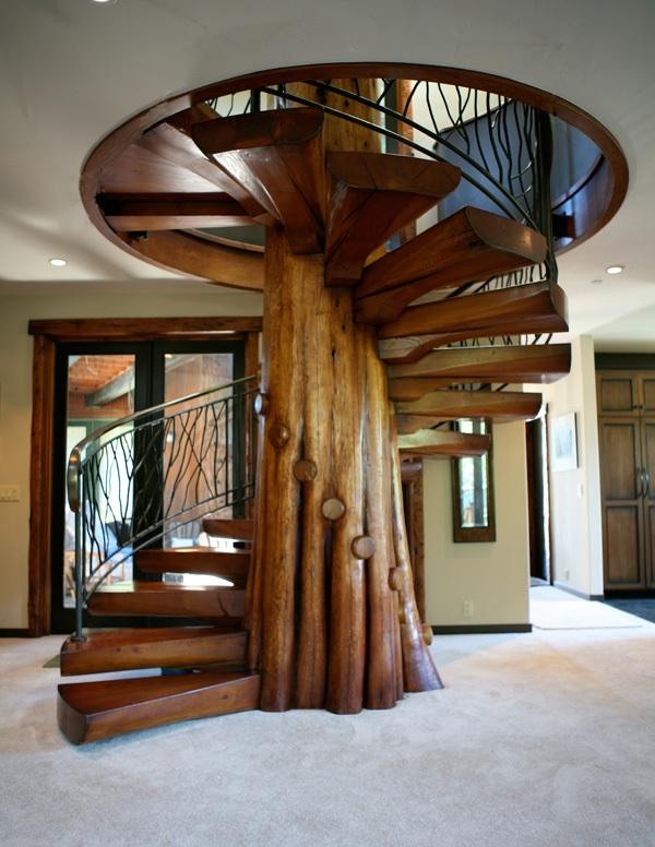 Wooden Spiral Staircase (14)