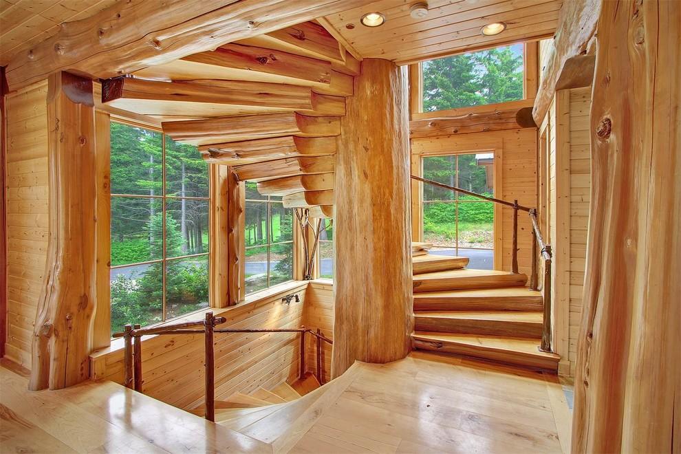Wooden Spiral Staircase (22)