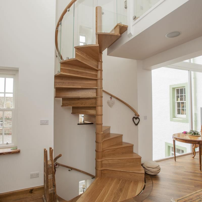 Wooden Spiral Staircase (26)