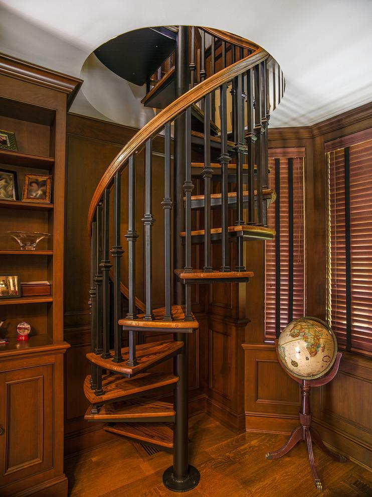 Wooden Spiral Staircase (27)