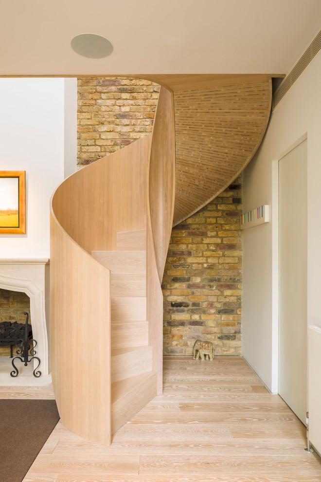 Wooden Spiral Staircase (9)