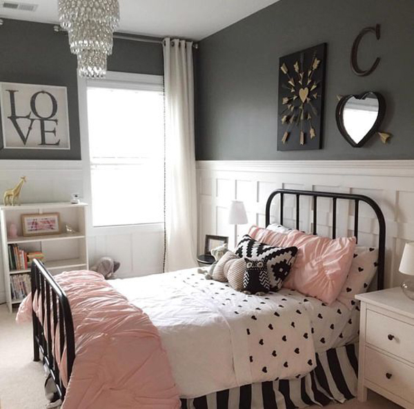 Black And White Bedroom For Teen Girls