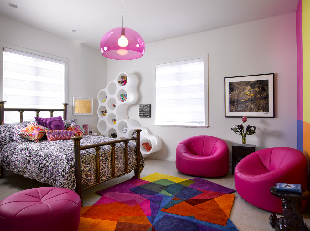 Contemporary Teenage Girl's Bedroom Thewowdecor