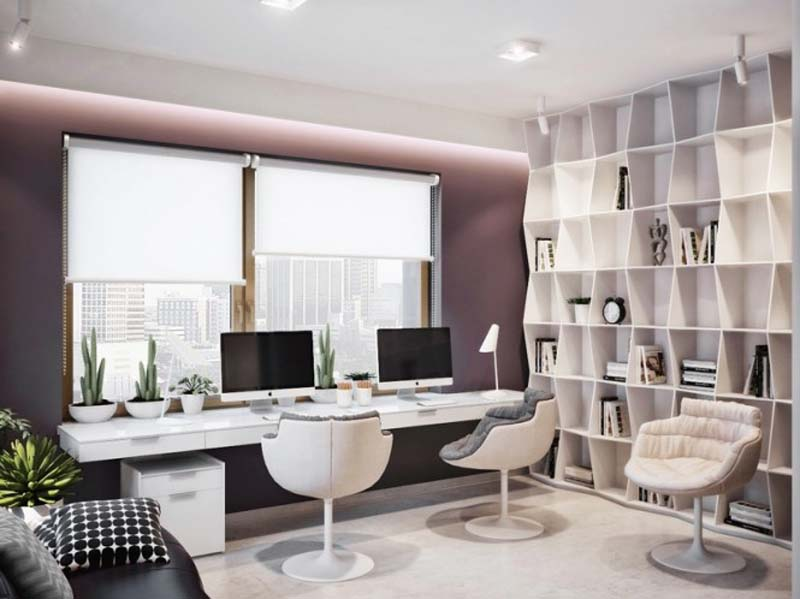 Modern Home Office thewowdecor (10)